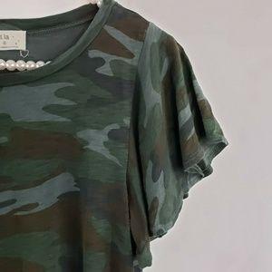 Anthropologie Tops - ⛔Anthropologie T.La Camo Roadtrip Tee Shirt